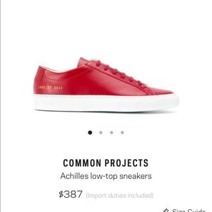 Common project sneakers